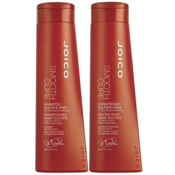 Joico-Smooth-Cure-Duo-Kit-Shampoo--300ml--e-Conditioner--300ml--Sulfate-Free-Para-Cabelos-Grossos-Frizados-Enrrolados