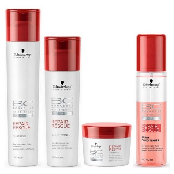 Schwarzkopf-Bc-Bonacure-Repair-Rescue-Kit-Shampoo--250ml--Condicionador--200ml--Tratamento--200ml--e-Leave-in--200ml-
