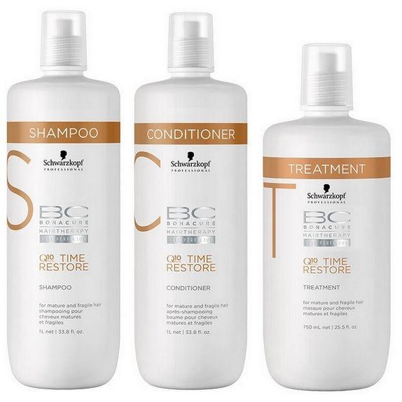 Schwarzkopf-Bc-Bonacure-Time-Restore-Q10-Kit-Shampoo--1000ml--Condicionador--1000ml--e-Tratamento--750ml-