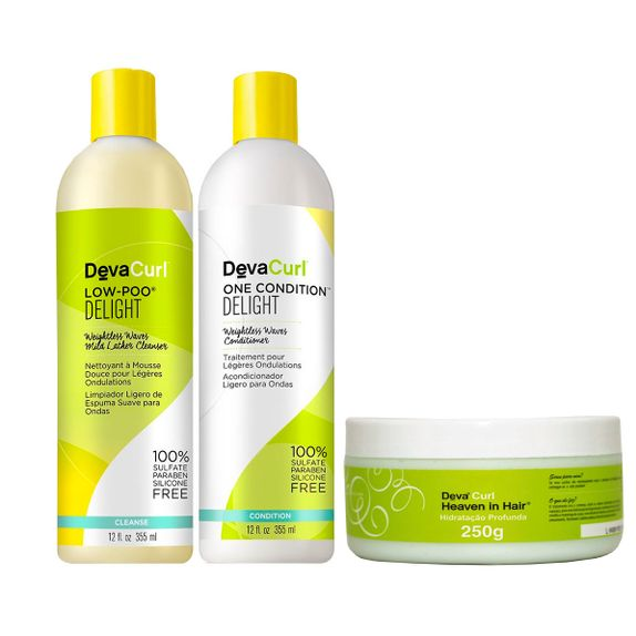 Deva-Curl-Delight-Kit-Shampoo-Low-Poo--355ml--e-Condicionador-One--355ml--e-Mascara-Heave--250ml-