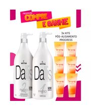 COSMETICA-IT-DALLIS-ESCOVA-PROGRESSIVA--2X500ML----GRATIS-3X-KIT--PROGRESS