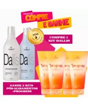 COSMETICA-IT-DALLIS-ESCOVA-PROGRESSIVA--2X1000ML----GRATIS-2X-KIT-PROGRESS