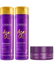 Cadiveu-Acai-Oil-Kit-Shampoo-Restaurador--250ml--Condicionador-Restaurador--250ml--e-Mascara-de-Acai--200ml-