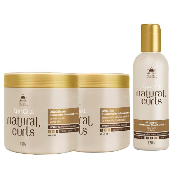 Avlon-KeraCare-Natural-Curls-CoWash--450ml--Butter-Cream--450ml--e-Oil--120ml-