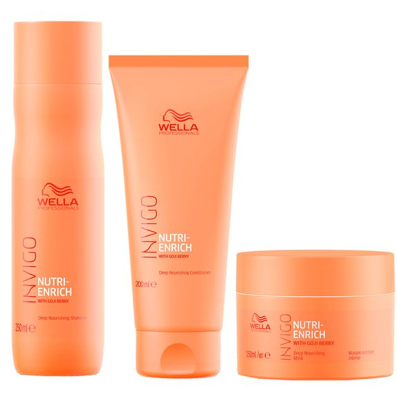 WELLA-INVIGO-NUTRI-ENRICH-SHAMPOO--250ML--CONDICIONADOR--200ML--E-MASCARA--150ML-